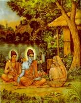 sabari offering berry fruit to Ram