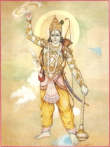 Lord Krishna with Sudarshan Chakra
